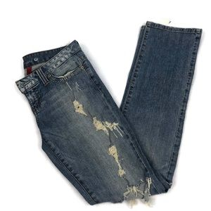 GUESS Distressed & Destroyed Flirty Low Rise Jeans